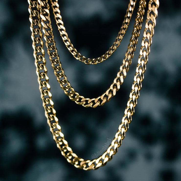 Micro Miami Cuban Link Choker Chain in Gold