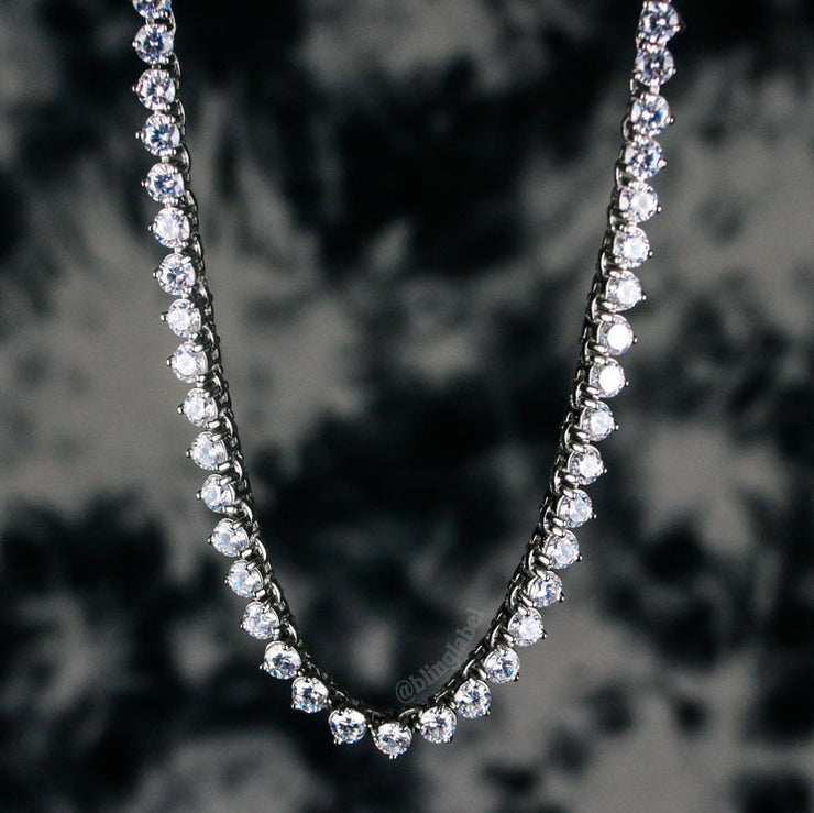 4mm Diamond Buttercup Tennis Chain in White Gold