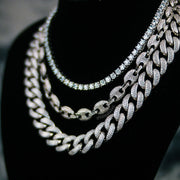 Gucci Choker Necklace Set in White Gold