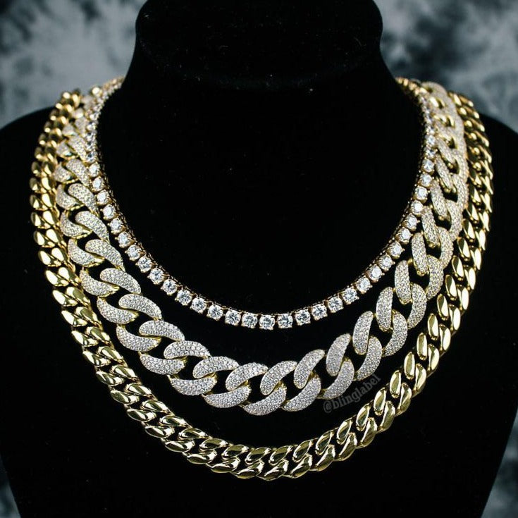 Quavo Choker Chains Set in Gold