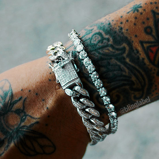 Boss Bracelet Bundle in White Gold