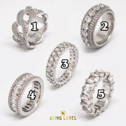 5 pcs ring set silver