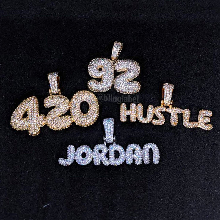 Custom Name Rapper Necklace (Premium 18K Plating)