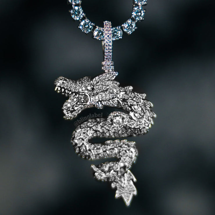 dragon-pendant-chain-silver