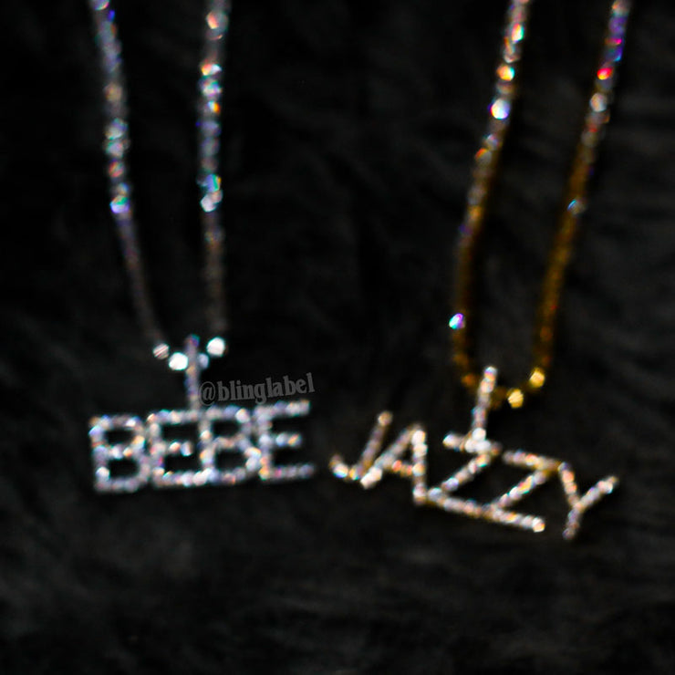 blinged out letter chain