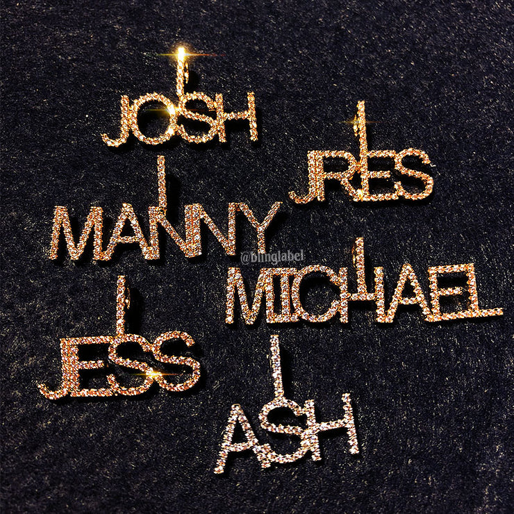 14k gold name plate