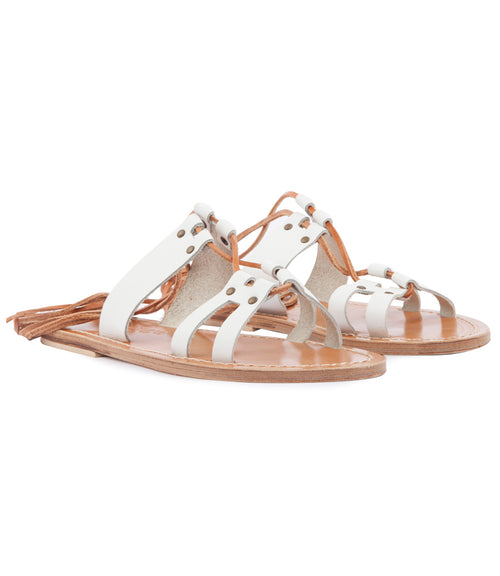 SAVANNAH ANKLE WRAPPED STRAP SANDALS