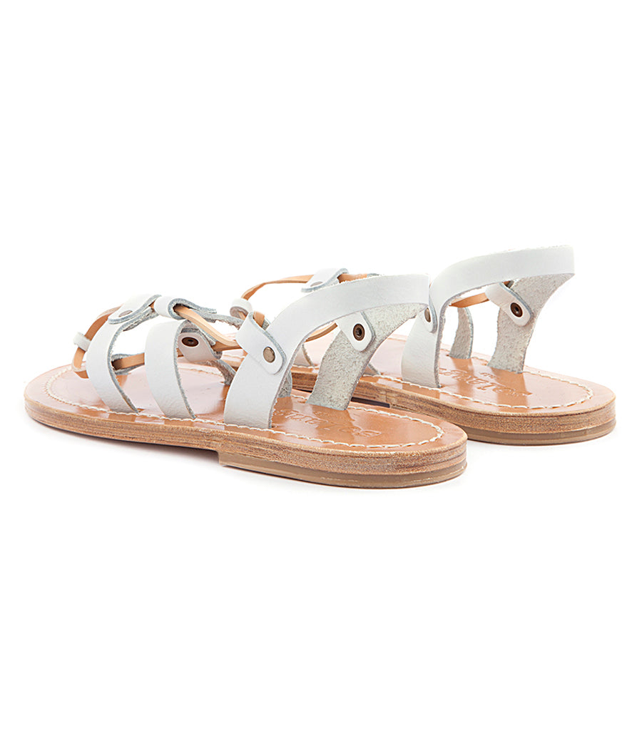 ACHILLE ANKLE TIED FLAT SANDALS