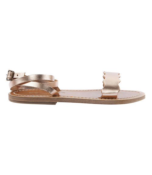 AELIA FLAT SANDALS WITH ANKLE BUCKLE FASTENING