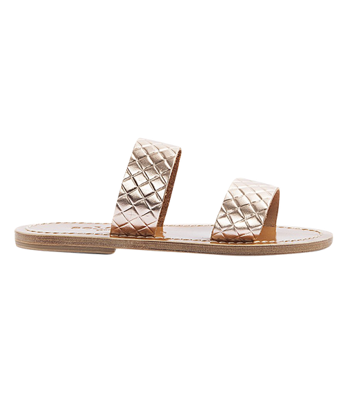 ANDROS FLAT SANDALS IN TEXTURED LEATHER