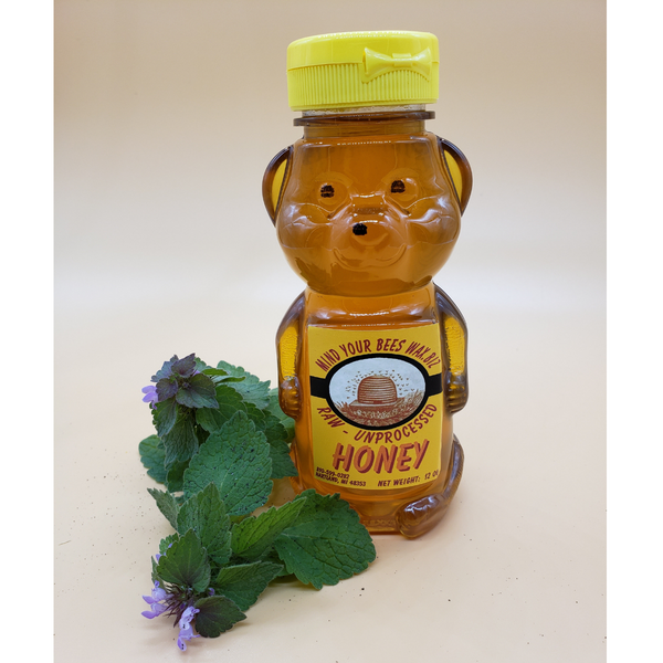 Michigan Wild Flower Honey 12 oz Bear