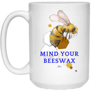 Mug-Mind Your Beeswax Mug-White 15oz
