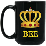 Mug-Queen Bee Mug-Black 15oz