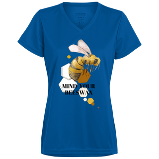 Life Is Better With - Ladies Mind Your Beeswax Wicking T-Shirt