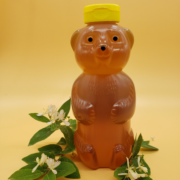Raw Michigan Wild Flower Honey 2 Lb Bear