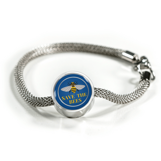 Life Is Better With -Save The Bees Charm Bracelet!