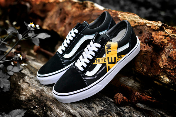 96c05de4691a ... Customized Vans x Off White Shoe Old Skool Checkerboard ...