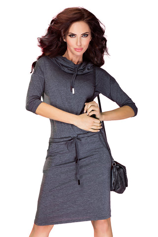 Gray Sports dress with Binding
