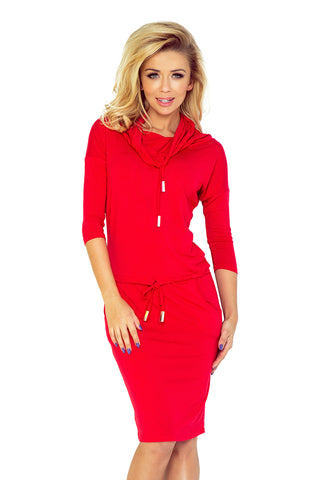 Red Sports Dress with Binding