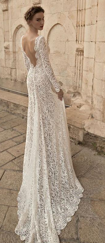 Elegant Long Lace Dress