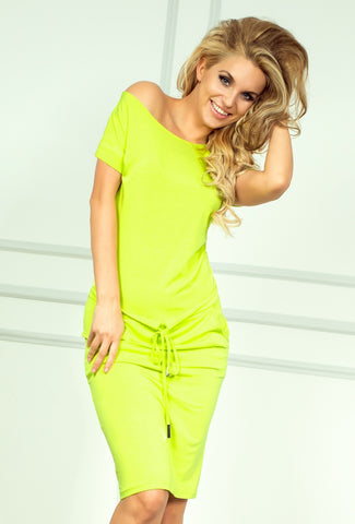 Neon Lemon Sporty Dress
