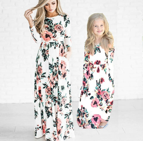 The Floral Mother and Daughter Duo