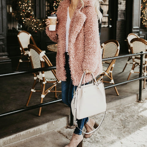 Fluffy Long Faux Fur Coat