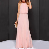 Vintage Long Chiffon Off The Shoulder Dress