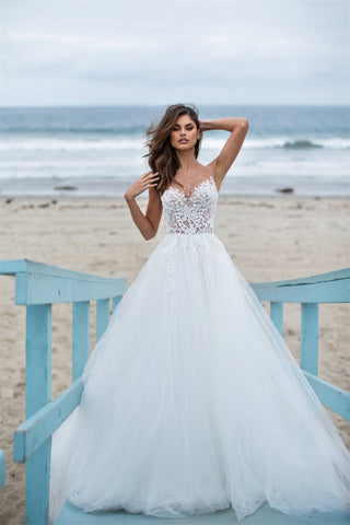 Tulle and Lace Bridal Dress