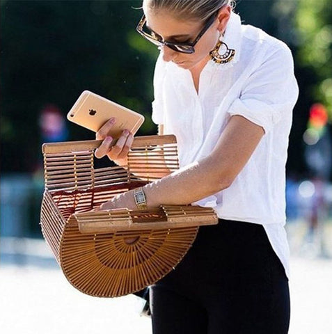 Semi Circular Bamboo Bag
