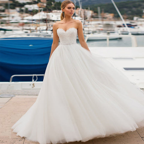 Sleeveless Sweetheart Gown with Beading