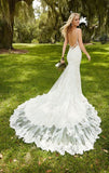 Backless Long Tail Mermaid Bridal Gown
