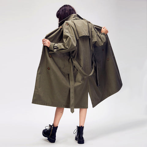 Double Breasted Casual Trench Coat