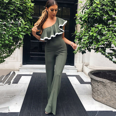 The Elegant One Shoulder Jumpsuit