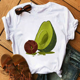 Short Sleeve Avocado Top, Color - S221-White