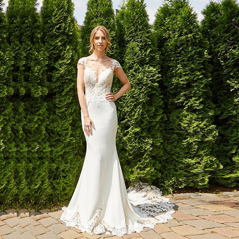 Sexy Backless Lace Wedding Gown