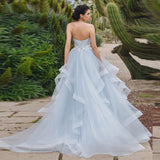 Blue Sweetheart Wedding Gown