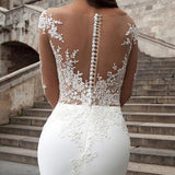 Vintage Long Sleeve Lace Mermaid Wedding Dress