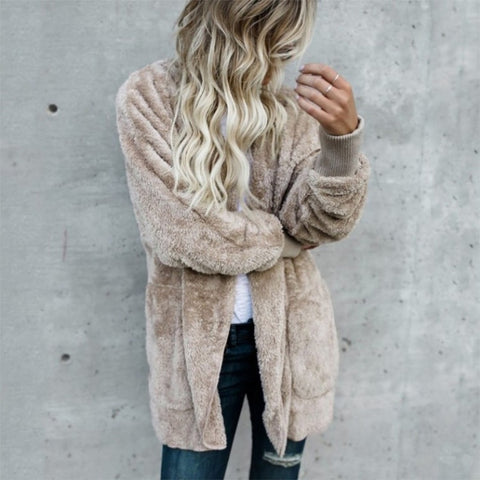 Oversize Faux Fur Hooded Coat