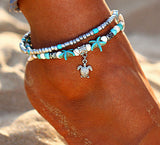 Double Layer Pendant Anklet