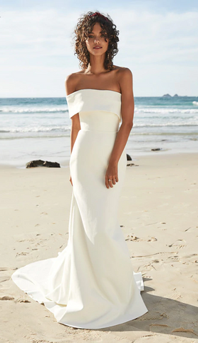 Classic One Shoulder Wedding Dress