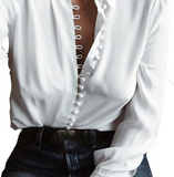 Long Sleeve Buttoned Blouse