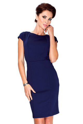 Dark Blue Short Sleeve Dress