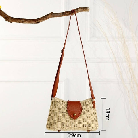 Rectangular Bohemian Crossbody Bag