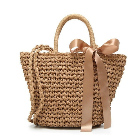 Brown Bohemian Beach Bag