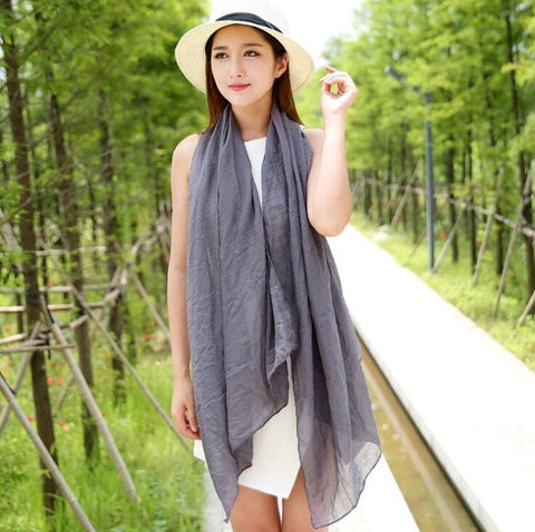 Grey Pashmina Beach Wrap