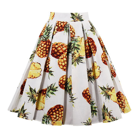 High Waist Retro Skirt