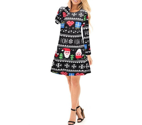Christmas Knee-Length Skater Dress