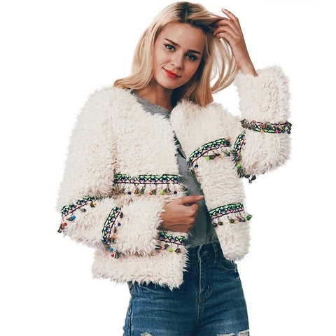 Must Have Long Sleeve Faux Fur Coat
