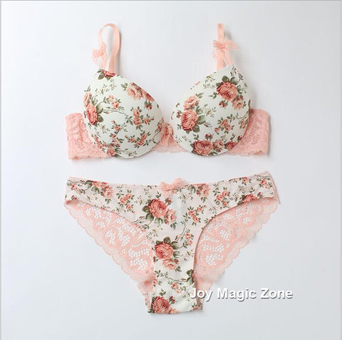 Flower Lingerie Set